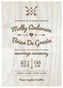 Rustic Love Wedding Invitations