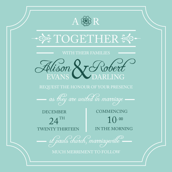 wedding invitations - Together Forever by Jo Rodwell