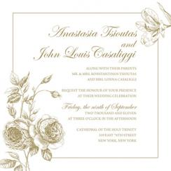 Love Blooms in the Garden Wedding Invitations
