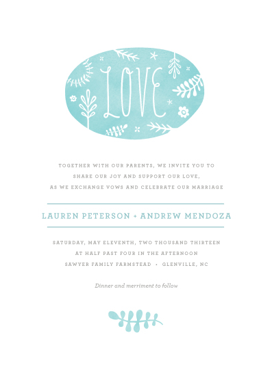 wedding invitations - Sweet Love by Olivia Raufman