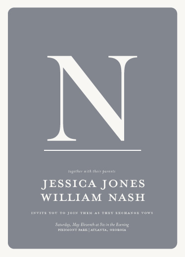 wedding invitations - Mostly Monogram by Ashley Ottinger