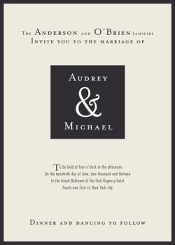 Little Black Dress Wedding Invitations