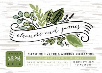 Birch Woods Wedding Invitations