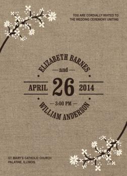 Burlap Bliss Wedding Invitations