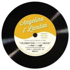 A Record Love Wedding Invitations