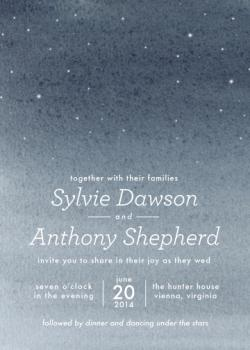 Written in the Stars Wedding Invitations