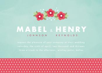 vintage picnic Wedding Invitations