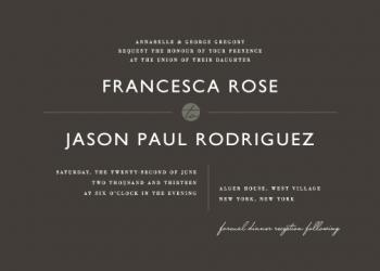 Manhattan Wedding Invitations