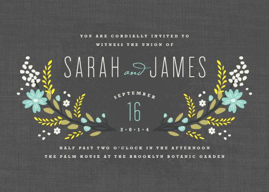wedding invitations - Botanical Blooms by Kristie Kern
