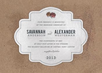 Private Reserve Wedding Invitations