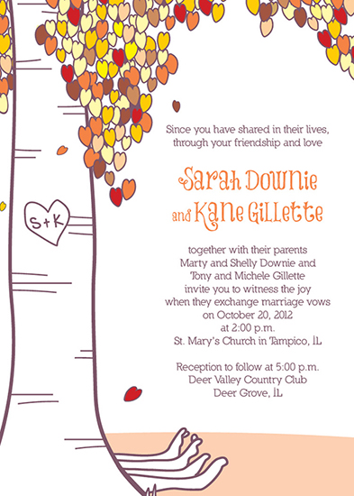 wedding invitations - The Giving Tree by Heather Behrens