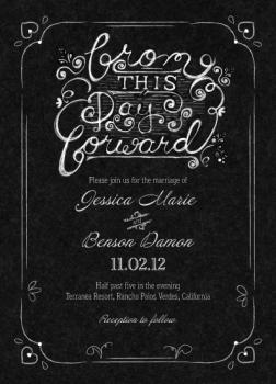 From This Day Forward Chalkboard Wedding Invitations