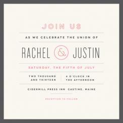 Calender finish Wedding Invitations