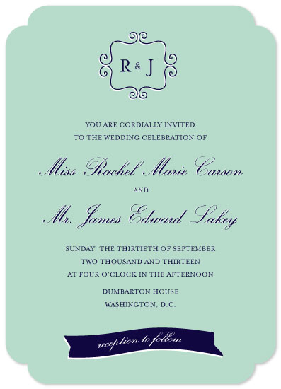 wedding invitations - Manly Classic by Rachel Buchholz