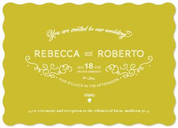 French Meringue Wedding Invitations