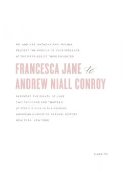 Modernism Wedding Invitations