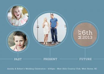 Past Present Future Wedding Invitations