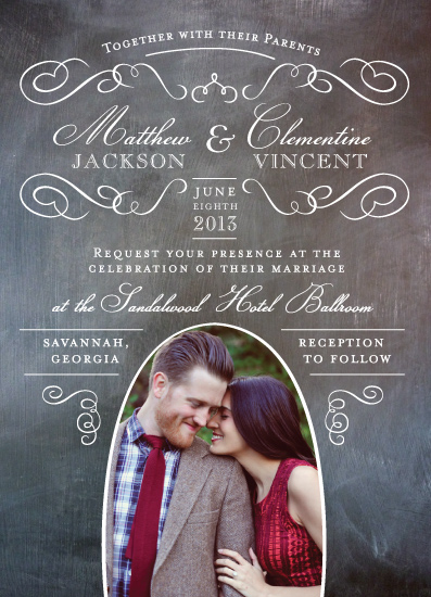 wedding invitations - Elegant Chalkboard by Susie Allen