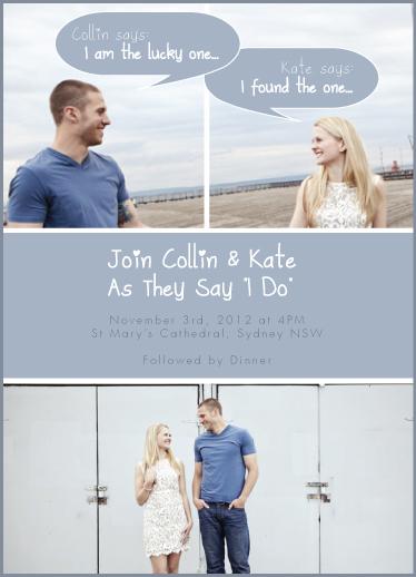 wedding invitations - He Said She Said by Hendro Lim