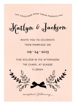 Marriage Bough Wedding Invitations