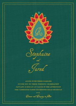 Indian Petals Wedding Invitations