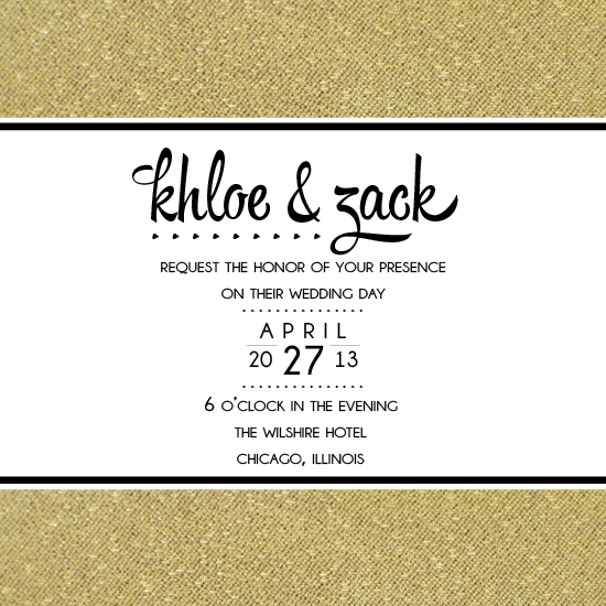 wedding invitations - Gold-Lining  by Jamie Leigh