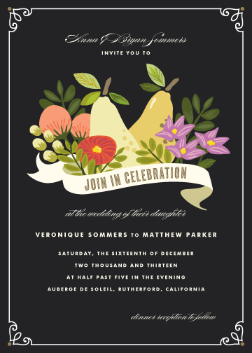 wedding invitations - Bountiful by Griffinbell Paper Co.