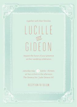 Fanciful Frame  Wedding Invitations