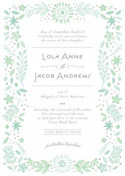York Beach Wedding Invitations