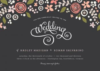 Midnight  fête Wedding Invitations