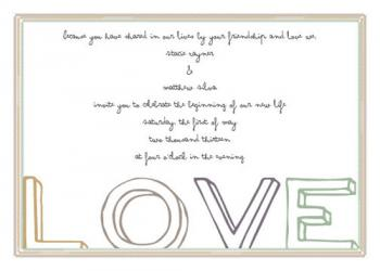 Share in Love Wedding Invitations