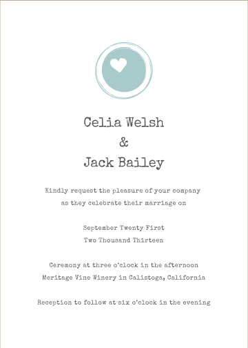 wedding invitations - One Love by Kirstin Nagy