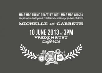 White Floral Simplicity Wedding Invitations