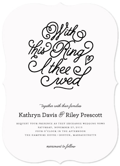 wedding invitations - With This Ring by Carrie ONeal