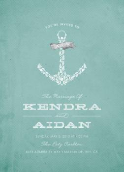 Forever Anchored Wedding Invitations
