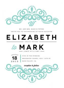 Flourished Wedding Invitations