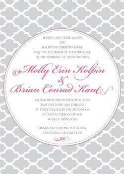 Patterned Sophistication Wedding Invitations