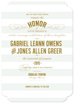 Honored Wedding Invitations