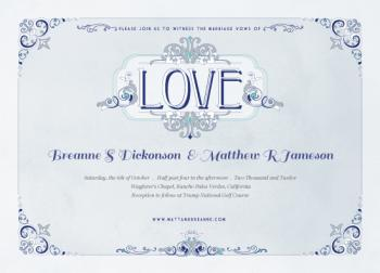 Blue Antique Love