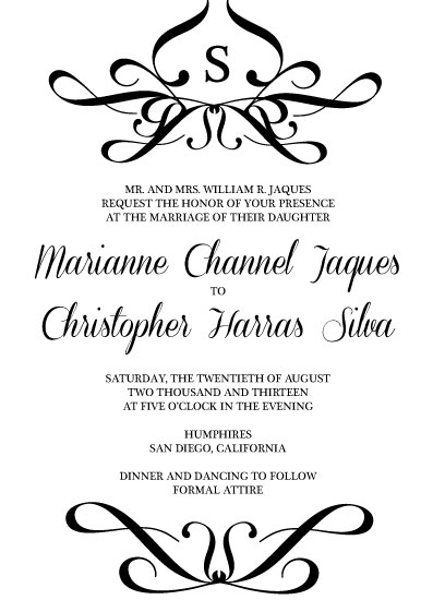 Wedding Gift Etiquette If Not Invited Wedding : The Perfect Match Wedding Invitations Challenge - See designs critique ...