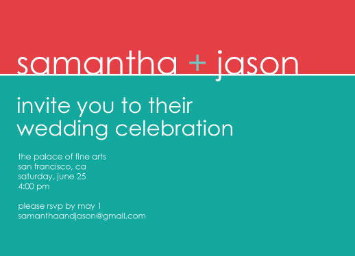 wedding invitations - modern love by jen soll