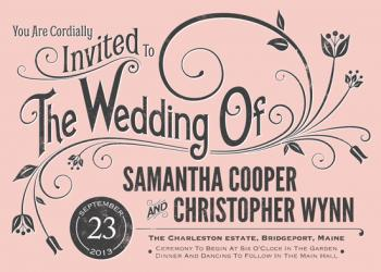 Vintage Blush Wedding Invitations