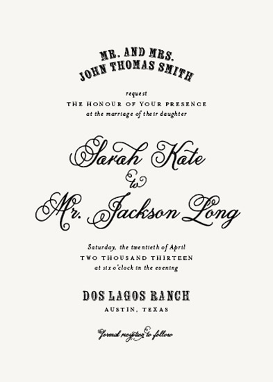 wedding invitations - Safari Chic by Lesa Abney