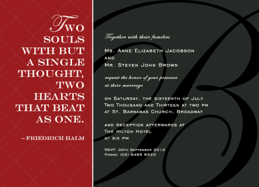 wedding invitations - Love Quotes by Hendro Lim