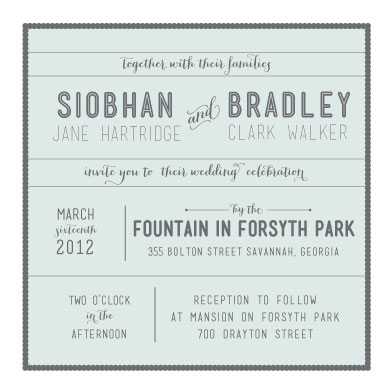 wedding invitations - Savannah Square