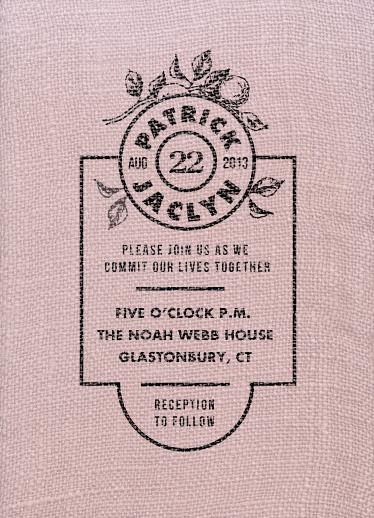 wedding invitations - Vintage Feedsack by Sandy Pons