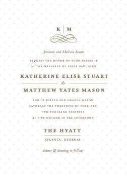 A Glamourous Affair  Wedding Invitations