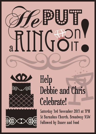 wedding invitations - Put a ring on it! by Hendro Lim