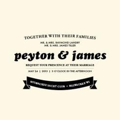 Waving Banner Wedding Invitations