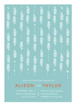 Playful Vines Wedding Invitations